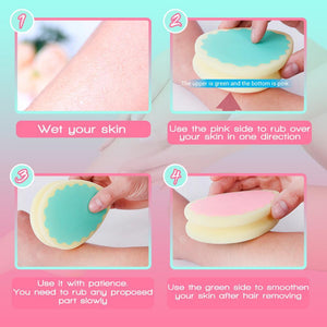 HairEraser™   Painless Hair Removal Sponge (Buy 1 Get 1 Free Now)