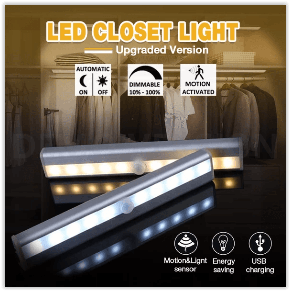 Motion Activated LED Closet Light