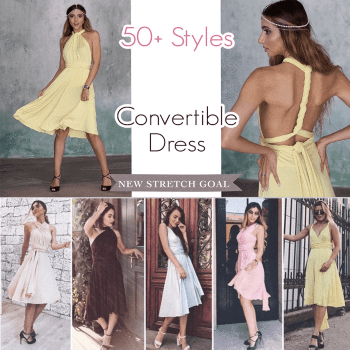 50+ Styles Chic Convertible Dress