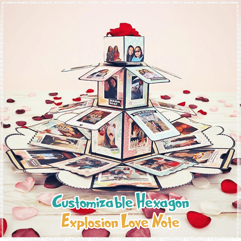 Customizable Hexagon Explosion Love Note  ( 🔥Pre-Christmas Offer 60% OFF Today! )