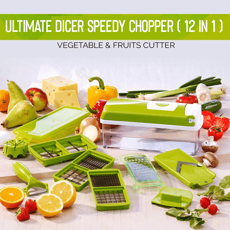 Ultimate Dicer Speedy Chopper ( 12 in 1 )