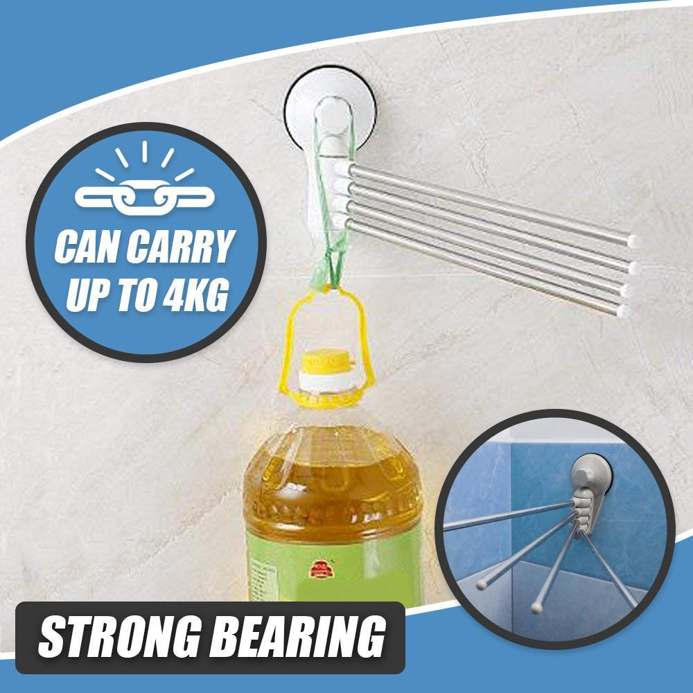 4 in 1 Rotate Punch Free  Multifunction Bathroom Hanger