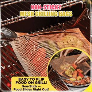 Non-sticky Mesh Grilling Bags