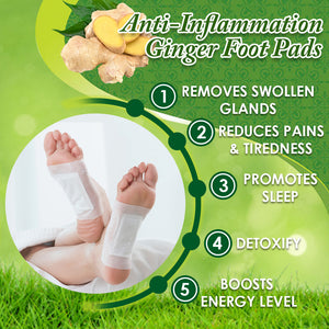 Anti-Inflammation/ Swelling Ginger Foot Pads (Set of 10)