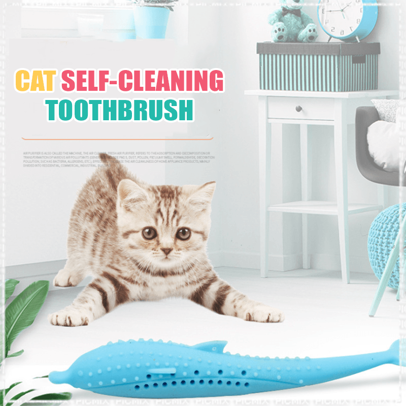 <50% OFF!> Cat Self-Cleaning Toothbrush (With Catnip INSIDE)