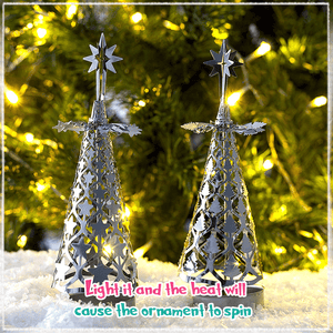Spinning Christmas Tree Candle Holder