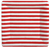 Red And White Stripe Sq Dinner Plates Square Square