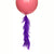 Pansy Purple Frilly Balloon Tassel