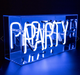 Party- Acrylic Box Neon Light