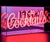 RED 'COCKTAILS' ACRYLIC BOX NEON LIGHT