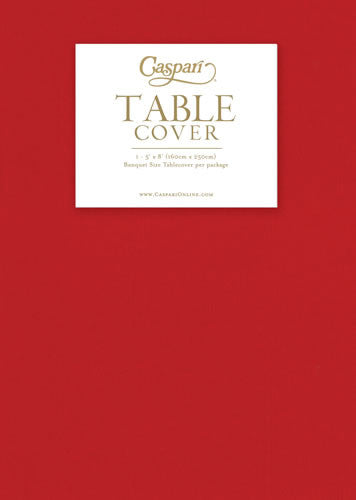 Paper Linen red Solid Airlaid Tablecover