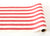 20 inches Red Classic Stripe Paper Runner