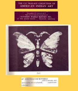 Leekya Deyuse stone butterfly ad from CG Wallace collection 1975 catalog