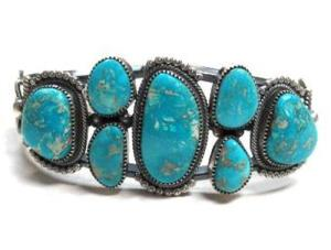 Cripple Creek Turquoise In Greg Pat Cuff