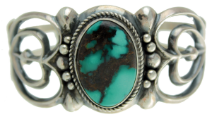 Damele Turquoise In Carol and Wilson Begay Cuff
