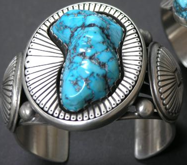 Sleeping Beauty Turquoise in Calvin Martinez Cuff