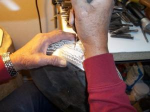 Preparing to attach the handles