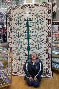 Tree of Life by Navajo weaver Leita Bedonie