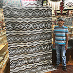 Donald Woods, Eye Dazzler Rug, Navajo Handwoven, 94