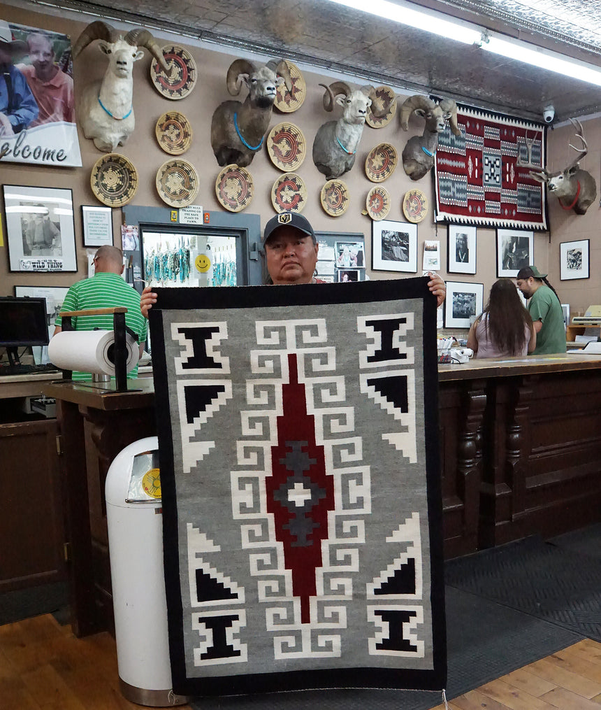 Angela Williams, Ganado Red Rug, Navajo Handwoven, 36