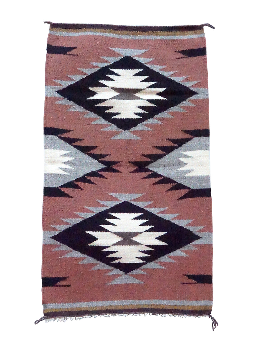 Lucy Cadman, Gallup Throw Rug, Wool Cotton, Navajo Handwoven, 37