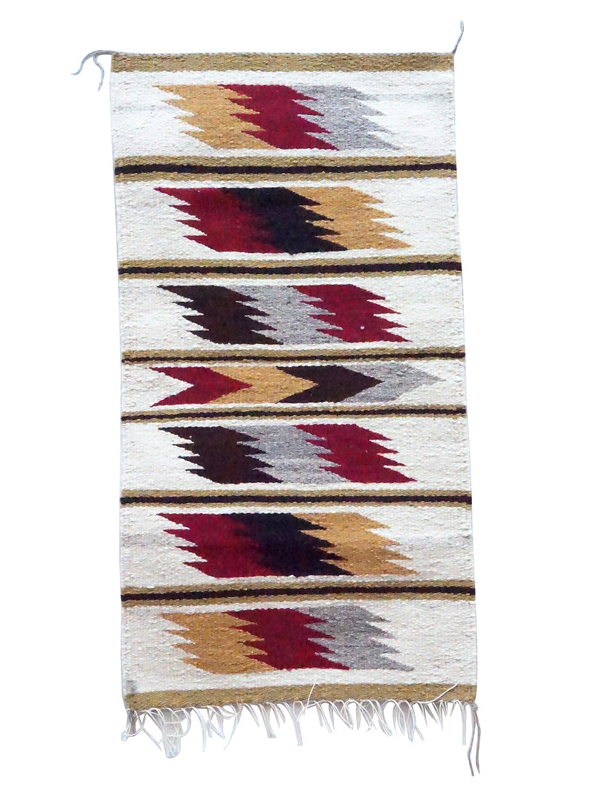 Faye Peterson, Gallup Throw Rug, Wool Cotton, Navajo Made, 37
