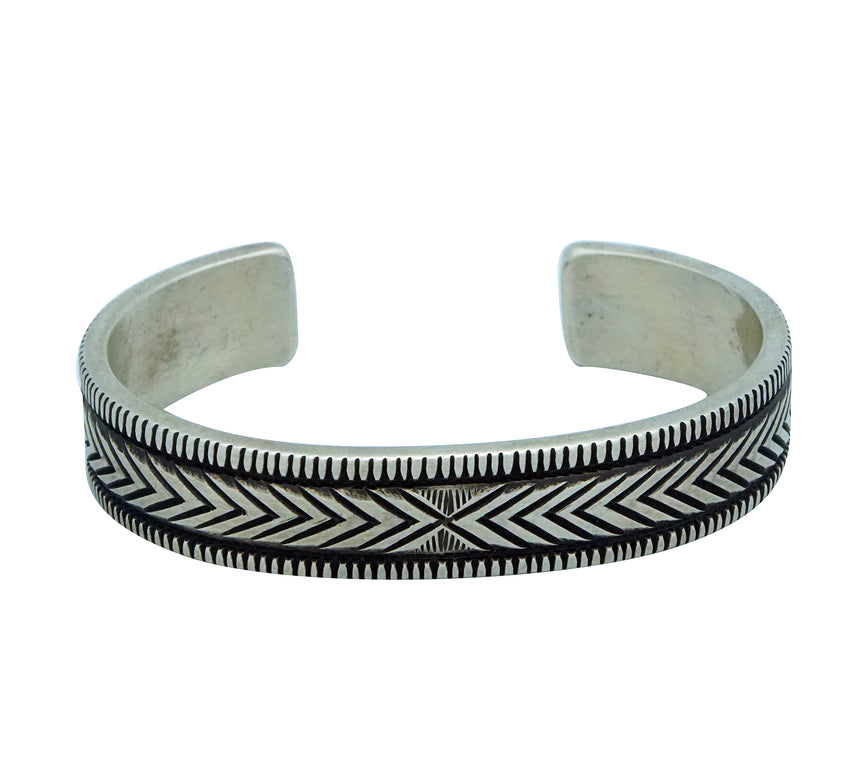Calvin Martinez, Bracelet, Original Stamping, The Junction, Navajo Made, 6 1/2