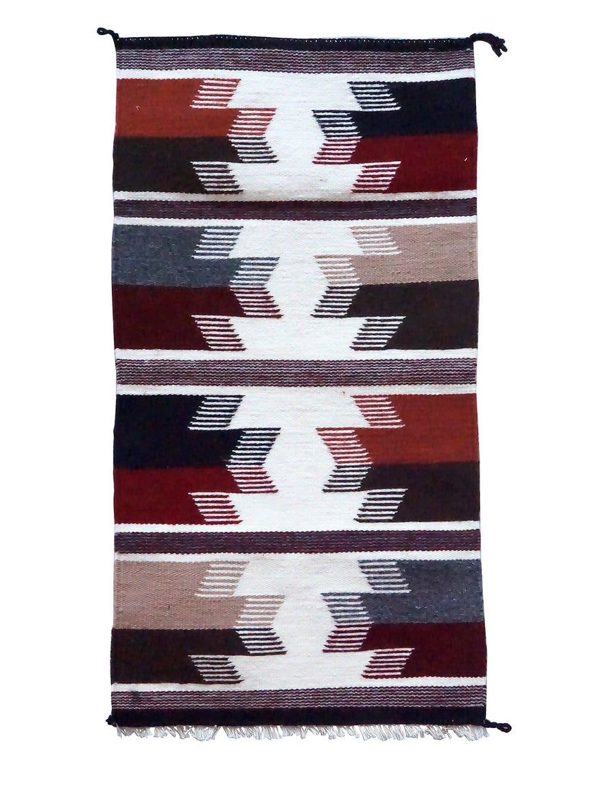 Norma Spencer, Gallup Throw Rug, Wool Cotton, Navajo Handwoven, 34