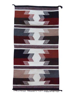 "Load image into Gallery viewer, Norma Spencer, Gallup Throw Rug, Wool Cotton, Navajo Handwoven, 34"" x 18"""