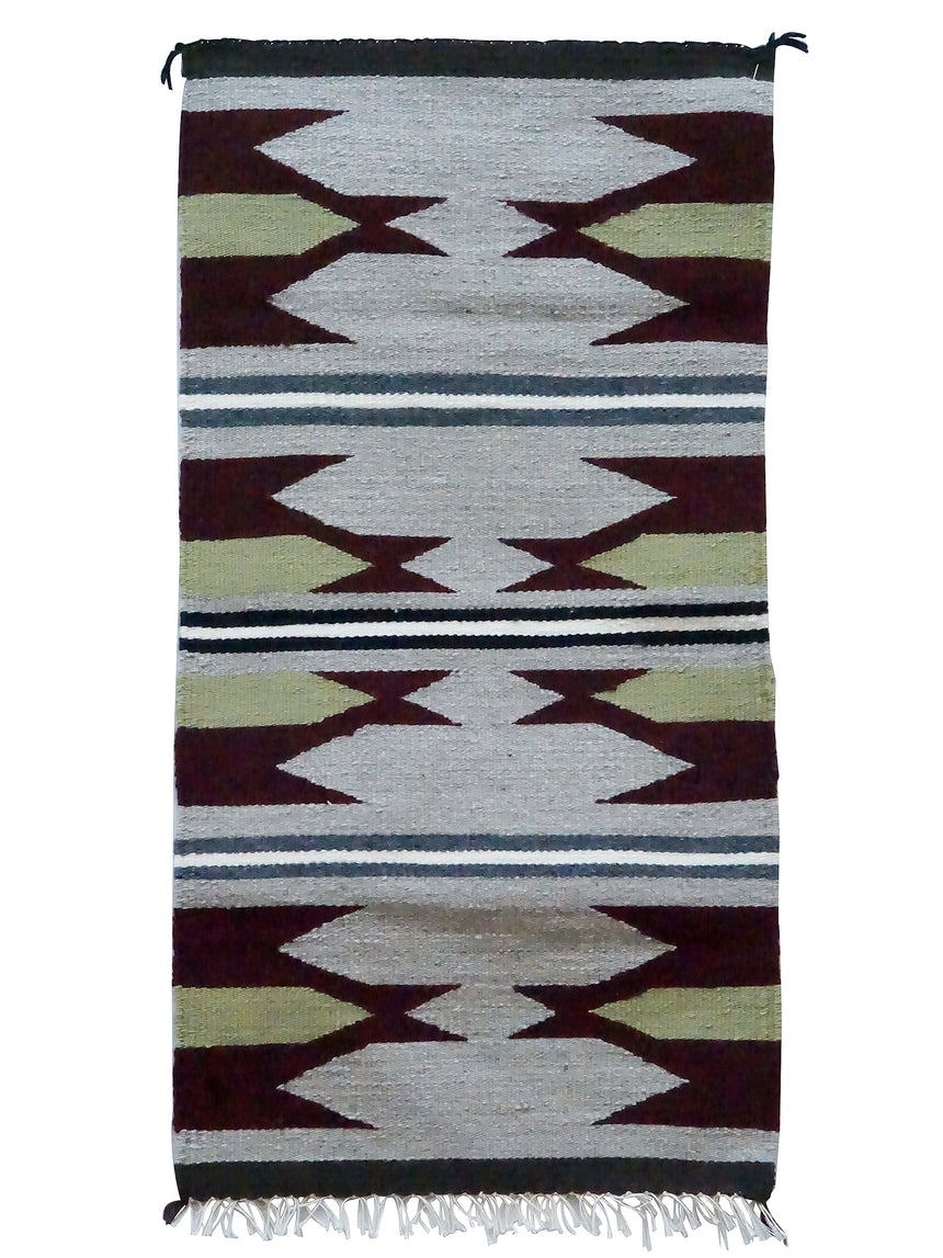 Jennie Peterson, Gallup Throw Rug, Wool Cotton, Navajo Made, 38