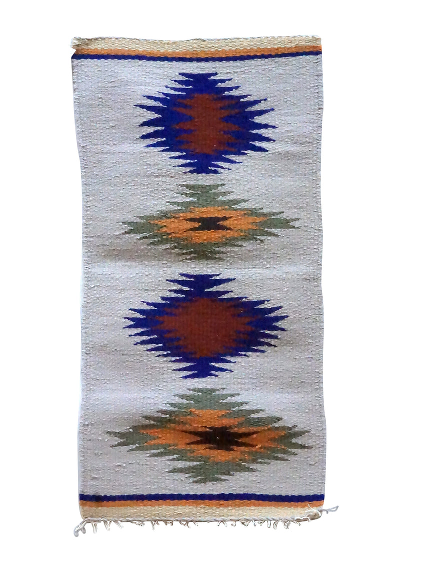 Gallup Throw Rug, Multi Color, Wool Cotton, Navajo Handwoven, 34