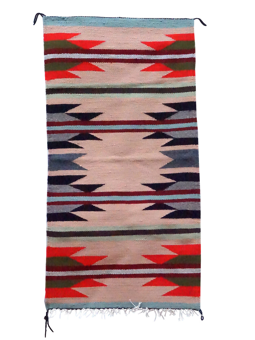 Faye Peterson, Gallup Throw Rug, Wool Cotton, Navajo Handwoven, 38