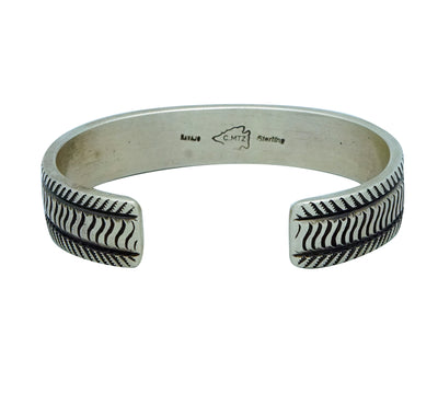 Load image into Gallery viewer, Calvin Martinez, Bracelet, Original Stamping, Summer Rain, Navajo Made, 6 1/2