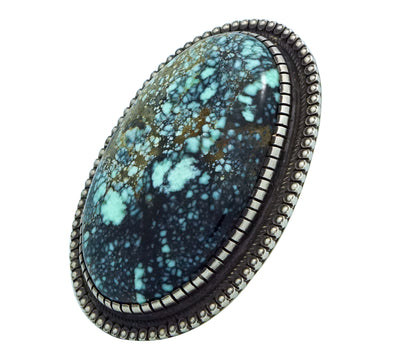 Load image into Gallery viewer, Calvin Martinez, Ring, Royal Web Turquoise, Sterling Silver, Navajo Handmade, 7