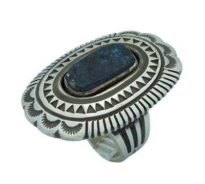 Load image into Gallery viewer, Calvin Martinez, Ring, Red Mountain Turquoise, Shadowbox, Navajo Made, 8 1/2