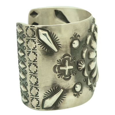 Load image into Gallery viewer, Elvira Bill, Bracelet, Brushed Finish, Sterling Silver, Navajo Handmade, 7 3/8""