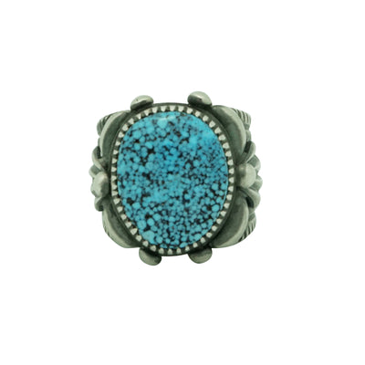Load image into Gallery viewer, Delbert Gordon, Ring, Kingman Turquoise, Sterling Silver, Navajo Made, 9 ½