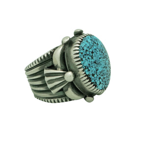 Delbert Gordon, Ring, Kingman Turquoise, Sterling Silver, Navajo Made, 9 ½