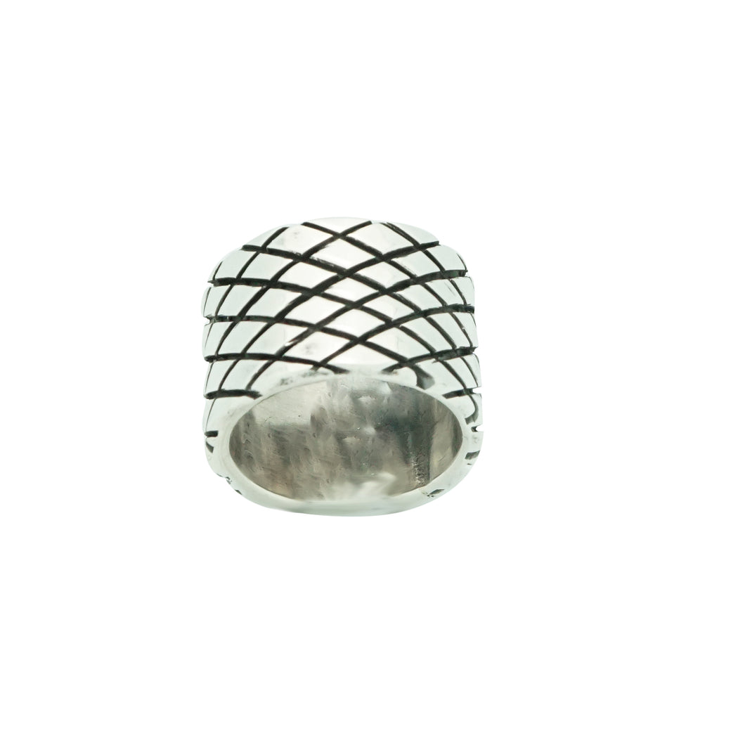 Aaron Anderson, Ring, Tufa Cast, Carved, Silversmith, Navajo Made, 5 1/2