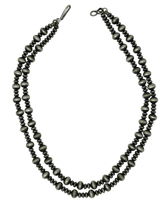 Load image into Gallery viewer, Preston Haley, Bead Necklace, Two Strands, Antique, Navajo Handmade, 18""