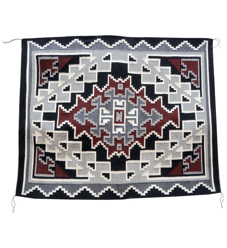 Vera Francis, Klagetoh, Single Diamond, Navajo Handwoven, 61