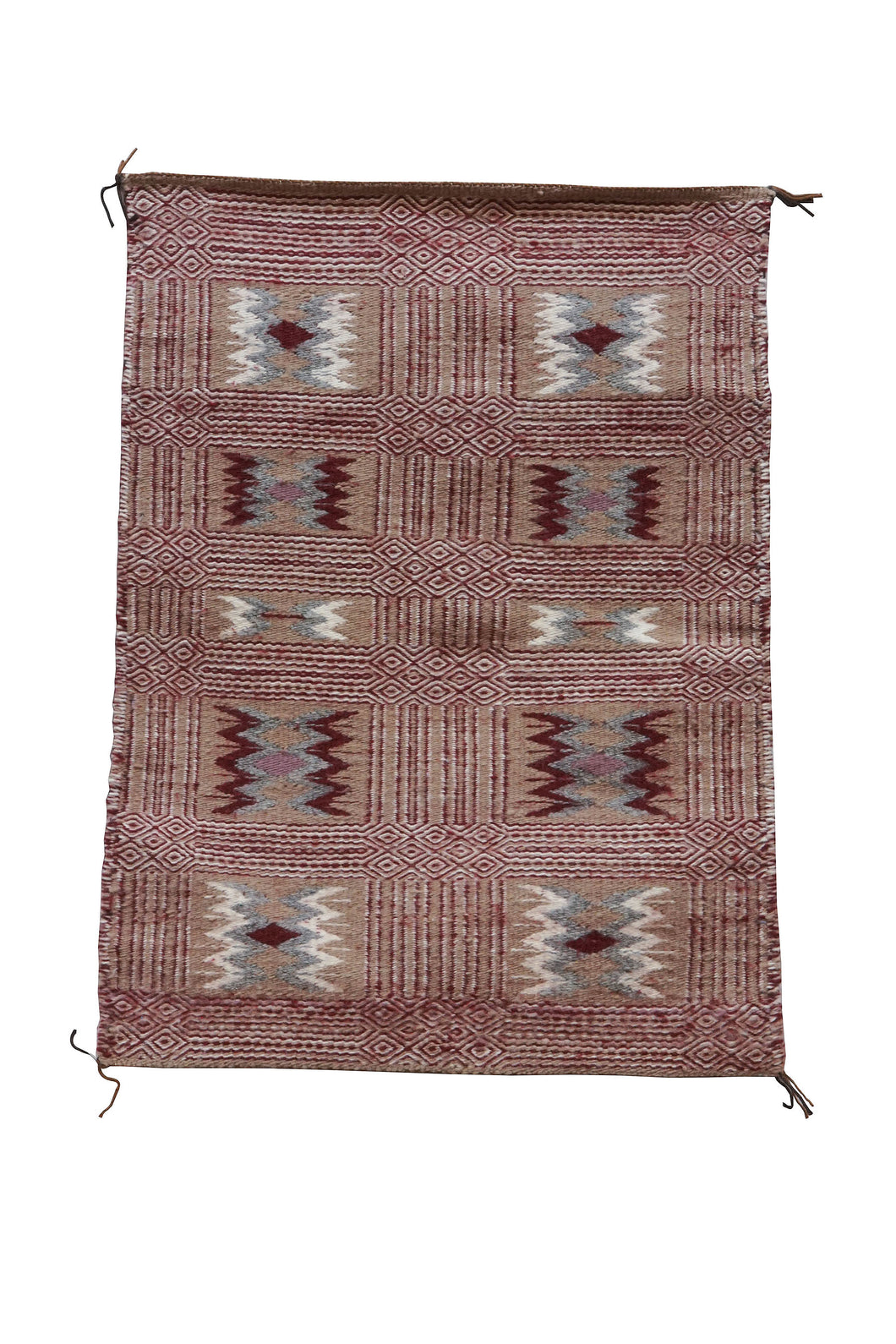 Lucy Wilson, Two Faced Blanket, Navajo Handwoven, 82 Year Old Weaver, 31