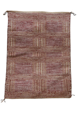 "Load image into Gallery viewer, Lucy Wilson, Two Faced Blanket, Navajo Handwoven, 82 Year Old Weaver, 31"" x 23"""