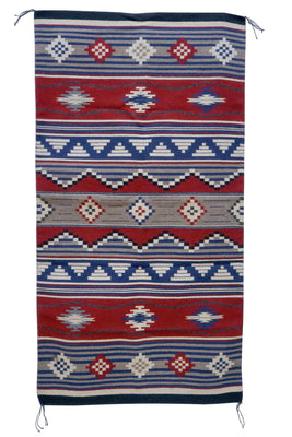 "Load image into Gallery viewer, Carol Harrison, Chief Blanket, Contemporary, Navajo Handwoven, 68"" x 36"""