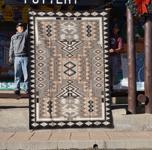 Circa 1980s, Navajo Handwoven Rug, Storm Pattern, Private Collection, 118