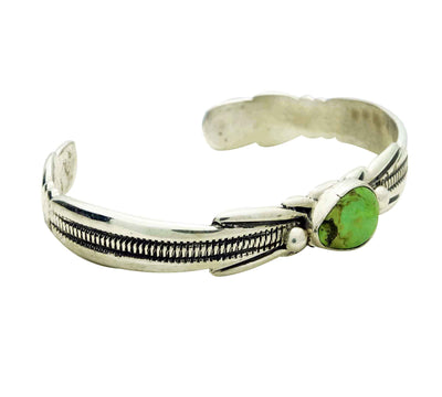 Load image into Gallery viewer, Carole, Wilson Begay, Bracelet, Gaspeite, Sandcast, Navajo Handmade, 6