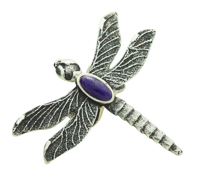 Load image into Gallery viewer, Kelsey Jimmie, Ring, Purple Sugilite, Dragonfly, Tufa Cast, Navajo Handmade, 8