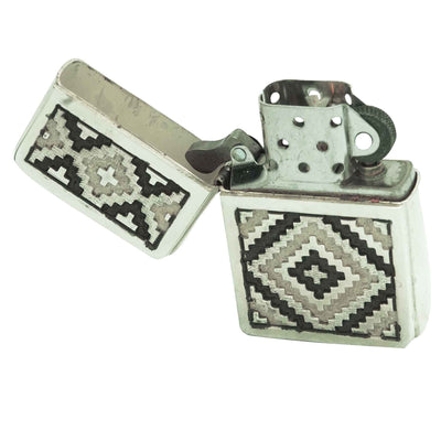 Load image into Gallery viewer, Dan Jackson, Zippo Lighter, Rug Design, Sterling Silver, Navajo Handmade