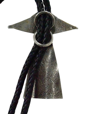 Load image into Gallery viewer, Sunshine Reeves, Bolo Tie, UFO Encounter, Stamping, Navajo Handmade, 42""