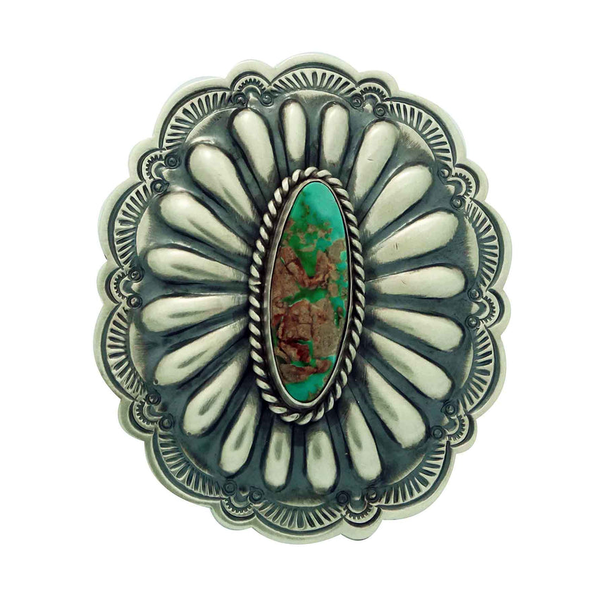 Arnold Blackgoat, Ring, Pilot Mountain Turquoise, Old Style, Navajo Made, 9 _